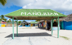Mano Juan-Dorf in Republik Saona Domenican Stockfotografie