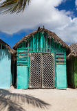 Mano Juan village in Saona Domenican Republic Royalty Free Stock Photos