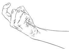 A mano la muestra venida, las líneas blancos y negros detalladas vector el illustr Foto de archivo