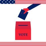 Mano los E.E.U.U. del voto Imagen de archivo