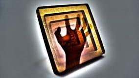 Mano malvada dentro del jade Fotografía de archivo libre de regalías