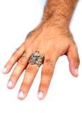 Mano maschio con l'anello Immagine Stock Libera da Diritti