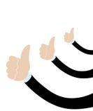 Mano masculina del hombre de negocios con el pulgar para arriba Foto de archivo libre de regalías