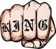 Mano masculina del puño, símbolo proletario de la protesta Muestra del poder ilustración del vector
