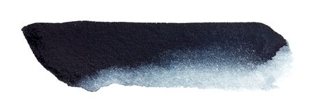 Mano negra del movimiento del cepillo de la acuarela dibujada fotos de archivo libres de regalías