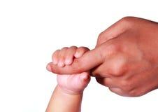 Mano neonata del bambino Fotografia Stock Libera da Diritti