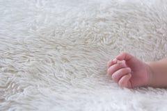 Mano neonata sveglia Fotografia Stock Libera da Diritti
