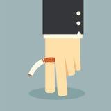 Mano non fumatori di affari Immagini Stock Libere da Diritti
