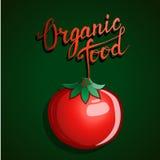 """Mano originale che segna il  e la verdura con lettere """"Organic del food†Fotografia Stock"""
