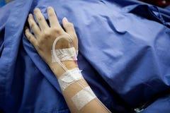Mano paziente Fotografie Stock Libere da Diritti