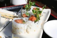 Mano picante Rolls del atún Fotos de archivo libres de regalías