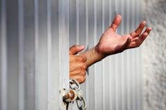 Mano in prigione Fotografia Stock