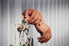 Mano in prigione Fotografie Stock Libere da Diritti