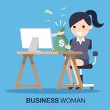 Mano que da el dinero a la mujer de negocios Imagenes de archivo