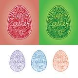 Mano que dibuja el huevo de Pascua ilustración del vector