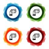 Mano que lleva a cabo iconos de las tarjetas de crédito Vector Eps10 ilustración del vector