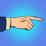 Mano que señala al hombre de finger ilustración del vector