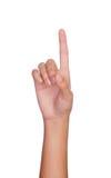 Mano que señala con los dedos índices en algo Fotografía de archivo