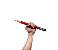 Mano que sostiene el lápiz libre illustration
