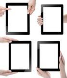 Mano que sostiene la tableta de Digitaces Fotos de archivo libres de regalías