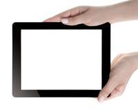 Mano que sostiene la tableta de Digitaces Fotos de archivo