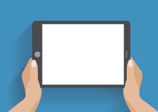 Mano que sostiene smartphone con la pantalla en blanco Fotografía de archivo libre de regalías