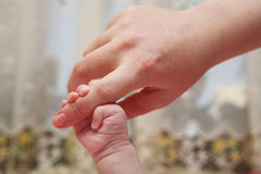 Mano recién nacida Imagenes de archivo