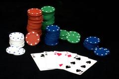 Mano recta del póker Imagenes de archivo