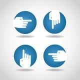 Mano redonda azul de la flecha Fotos de archivo libres de regalías