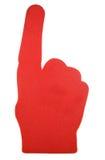 Mano roja de la espuma Fotografía de archivo