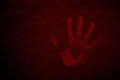 Mano rossa Immagini Stock