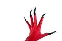 Mano rossa dei devil´s Fotografia Stock