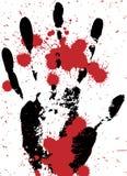 Mano sangrienta - escena del crimen Foto de archivo