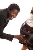 Mano sexual del harasssment Imagen de archivo libre de regalías
