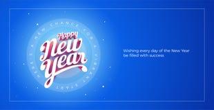 Mano su ordinazione 3d di vettore del buon anno che segna desig con lettere tipografico Fotografia Stock Libera da Diritti