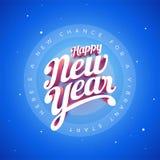 Mano su ordinazione 3d di vettore del buon anno che segna desig con lettere tipografico Fotografia Stock