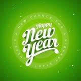 Mano su ordinazione 3d di vettore del buon anno che segna desig con lettere tipografico Immagini Stock