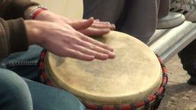 Mano-tambor almacen de metraje de vídeo