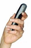 Mano, telefono mobile Immagini Stock Libere da Diritti