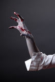 Mano terrificante delle zombie, corpo-arte estrema Fotografia Stock