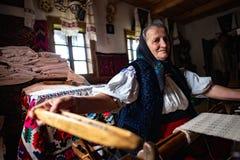 Mano tradizionale Kraft dalla Romania, contea di Maramures fotografia stock libera da diritti