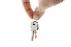 Mano y claves foto de archivo libre de regalías