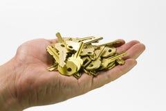 Mano y claves III Fotografía de archivo libre de regalías