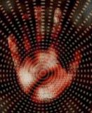 Mano y diseño binario Imagen de archivo libre de regalías
