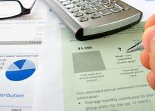 Mano y meta de la renta Imágenes de archivo libres de regalías