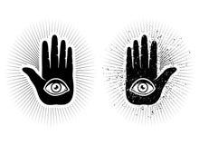 Mano y ojo Foto de archivo libre de regalías
