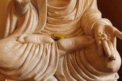 Mano y pies del Budddha Foto de archivo libre de regalías