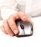 Mano y ratón Imágenes de archivo libres de regalías