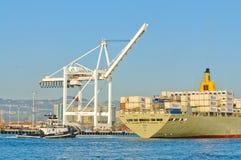 Manoa skrivande in hamn i Oakland royaltyfri bild