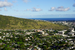 Manoa Valley on the Island of Oahu Stock Photos
